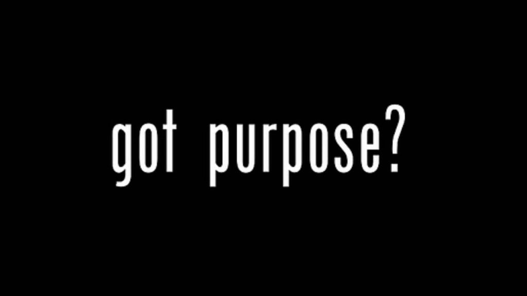 Got Purpose? Know Yours!